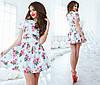 Женское платье цветы из тонкого джинса , фото 5