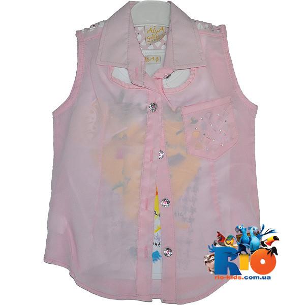 Детская летняя блузка - двойка , для девочек от 8-12 лет