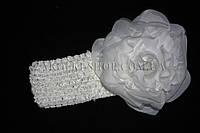 Повязка для волос сеточка с розой, 12 штук в упаковке