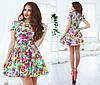 Женское платье цветы из тонкого джинса, фото 5