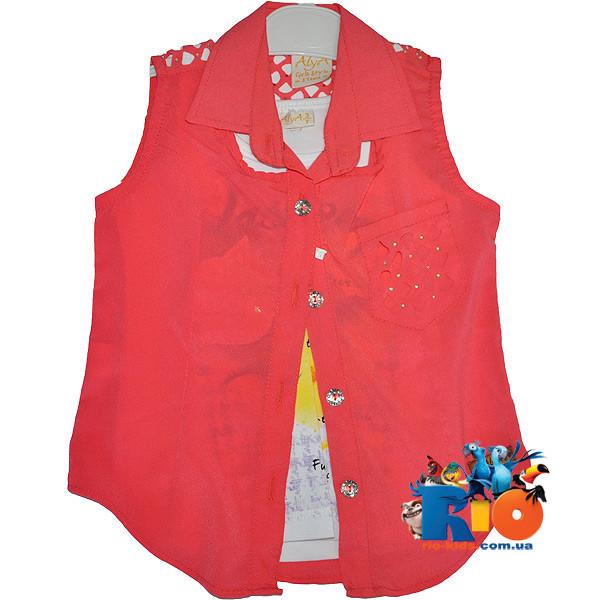Детская блузка - двойка , для девочек от 3-7 лет