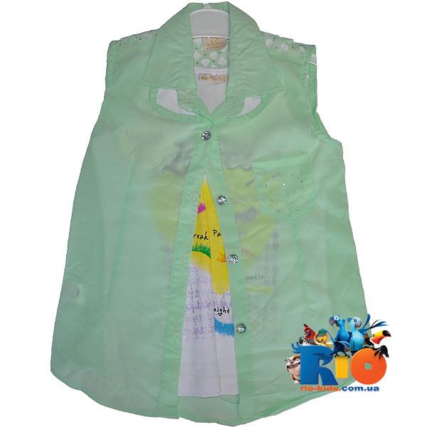 Летняя блузка - двойка , для девочки от 3-7 лет