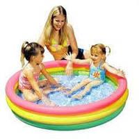 """Детский надувной бассейн """"Радуга"""" Intex 57412,114х26см"""