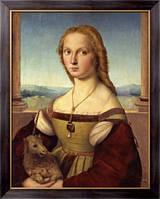 Картина Дама с единорогом., Рафаэль, Санти