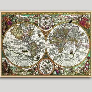 Карты настенные географические на заказ