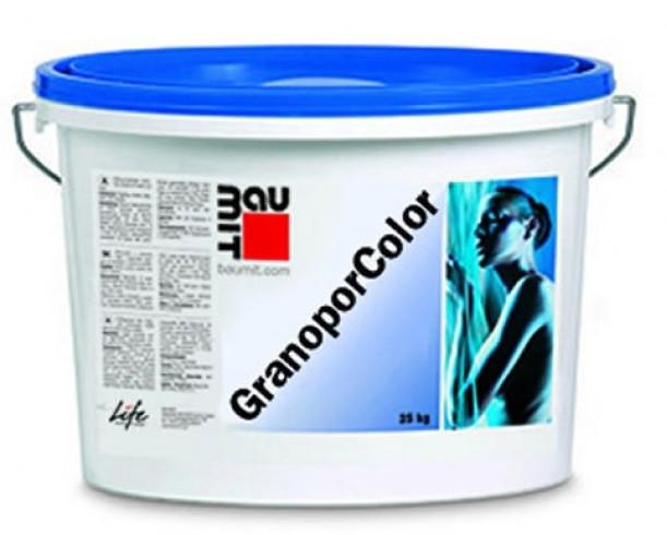 Краска акриловая BAUMIT GRANOPOR COLOR фасадная, 24кг