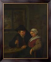 Картина Крестьянин ухаживает за пожилой женщиной, Остаде, Адриан ван