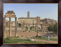 Картина Вид форума в Риме, Экарсберг, Кристофер Вильгельм