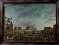 Картина Спортивный конкурс на Тибре в Риме, Верне, Клод Жозеф