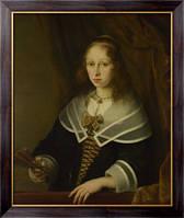 Картина Дама с веером, Бол, Фердинанд