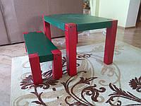 Деревянный детский комплект  Стол + лавка