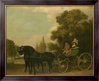 Картина Джентльмен везет леди в Фаэтоне, Сёра, Жорж-Пьер
