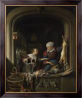 Картина Магазин торговли домашней птицей, Доу, Геррит (Герард)