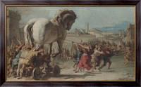 Картина Шествие троянского коня в Трою, Тьеполо, Джованни Баттиста