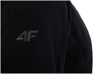 Флисовая кофта 4F серый (вставки на воротнике, замок -  оранжевый цвет, фото 2