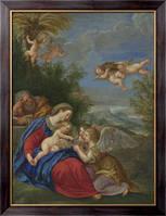 Картина Отдых на пути в Египет, Альбани, Франческо