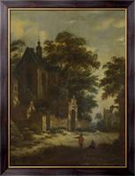 Картина Вид на деревню, Фриз, Ролоф ван