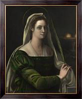 Картина Портрет дамы с атрибутами святой Агаты,  Пьомбо, Себастьяно дель