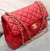 Клатч красный через плечо Chanel  сумочка Шанель