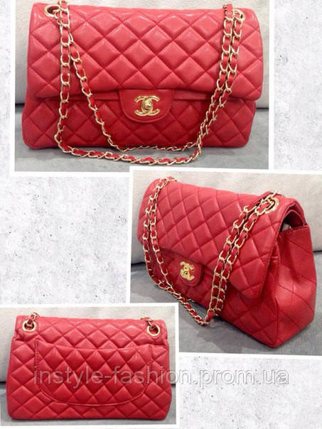 Клатч красный через плечо Chanel сумочка Шанель  купить недорого ... 84e4da49cb4