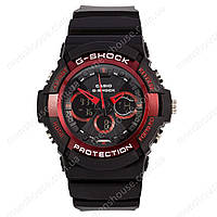 Бюджетные часы Casio G-Shock GA-200SH Black-Red