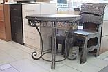 Деревянный стол ясень+ковка, фото 2