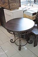 Деревянный стол ясень+ковка, фото 1