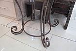 Деревянный стол ясень+ковка, фото 4