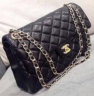 Клатч черный через плечо Chanel  черная сумочка Шанель