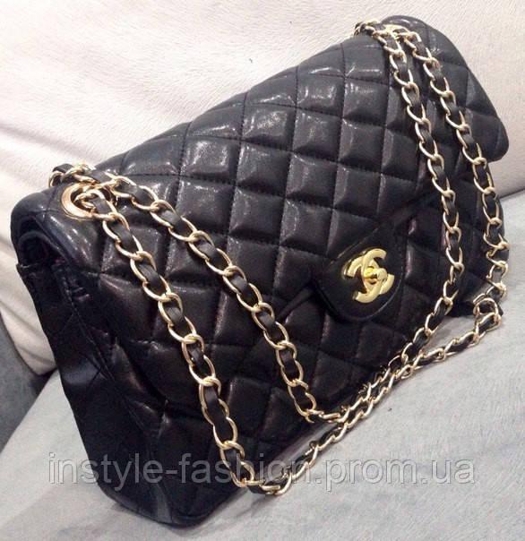 59000e5b848e Клатч черный через плечо Chanel черная сумочка Шанель  купить ...