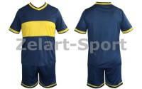 Форма футбольная без номера CO-1503-B (PL, р-р M-46-48, L-48-50, XL-50-52, синий, шорты синие)