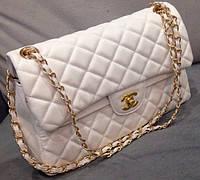 Клатч белый через плечо Chanel белая сумочка Шанель