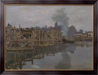 Картина Мост на ремонте, 1871-1872, Моне, Клод