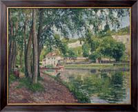 Картина Летняя рыбалка. Канал Луан, 1902, Писсарро, Камиль