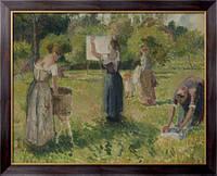 Картина Прачки в Эрагни, 1901, Писсарро, Камиль