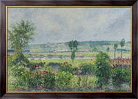 Картина Долина у Сены возле дамбы, сад Октава Мирбо, 1892, Писсарро, Камиль