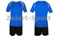 Форма футбольная без номера CO-3156-B (PL, р-р M-46-48, L-48-50, XL-50-52, синий, шорты черные)