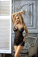 Красивая черная кружевная сорочка Excellent Beauty D-323, фото 1