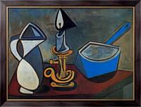 Картина Кувшин, подсвечник и эмалированная кастрюля,1945 , Пикассо, Пабло
