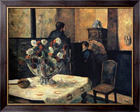 Картина Интерьер дома художника на рю Карсель, 1881, Гоген, Поль