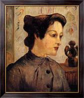 Картина Женщина с шиньоном, 1886  , Гоген, Поль
