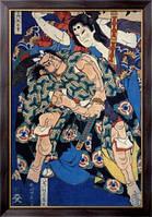Картина Театральная гравюра, Кацусика, Хокусай