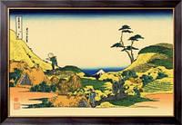 Картина Симо Мегуро, Кацусика, Хокусай