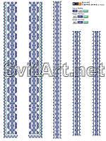 Заготовка на вышивку вставки для детской рубашки Rb(v)-002