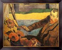 Картина Портрет Винсента ван Гога, рисующего подсолнухи, 1888 , Гоген, Поль