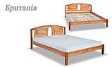Ліжко півтораспальне з натурального дерева в спальню, дитячу Британія (Вільха) ДОК, фото 6