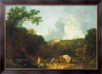 Картина Отдаленный вид на Виллу Мецената, Тиволи, Уилсон, Ричард