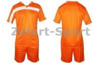 Форма футбольная без номера CO-4475-OR (PL, р-р M-46-48, L-48-50, XL-50-52, оранжевый, шорты оранжевые)