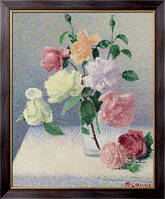 Картина Букет роз в стакане, Ложе,  Ашиль