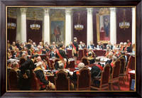 Картина Торжественное заседание Государственного Совета  7 мая 1901 года в честь столетнего юбилея со дня его учреждения, Репин, Илья Ефимович